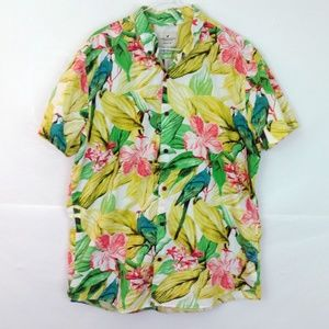 American Eagle Hawaiian Poplin Button-Down Shirt A